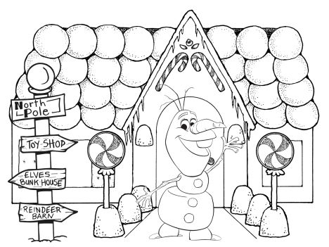 Christmas House Coloring Pages 57