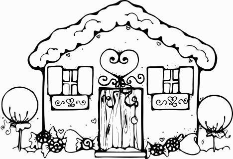 Christmas House Coloring Pages 58