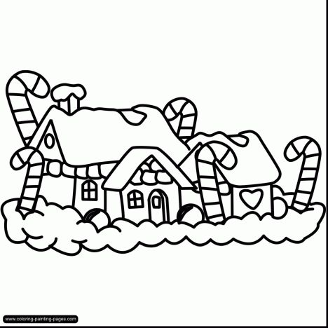 Christmas House Coloring Pages 59