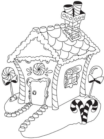 Christmas House Coloring Pages 6