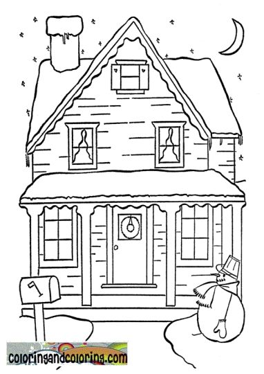 Christmas House Coloring Pages 60