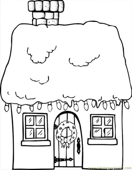 Christmas House Coloring Pages 8