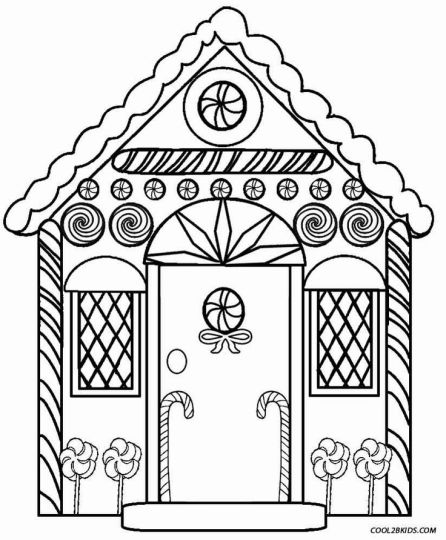 Christmas House Coloring Pages 9