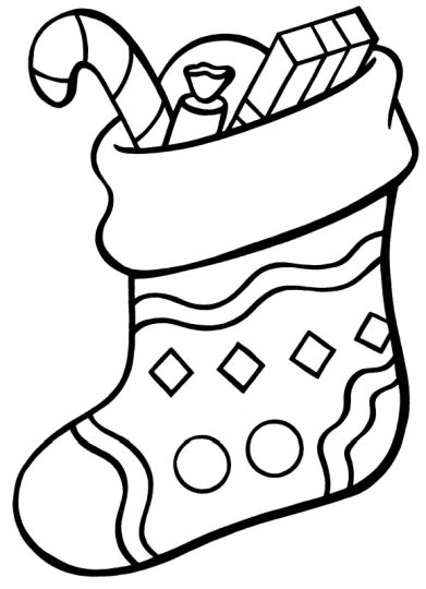Christmas Stocking Coloring Pages For Kids 10