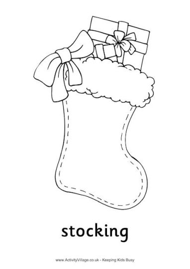 christmas stocking coloring pages for kids part 2 - Coloring Pages Christmas Stocking