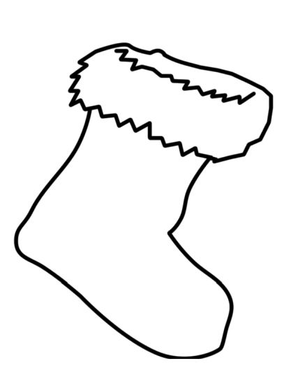 Christmas Stocking Coloring Pages For Kids 12