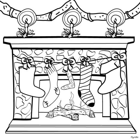 Christmas Stocking Coloring Pages For Kids 13