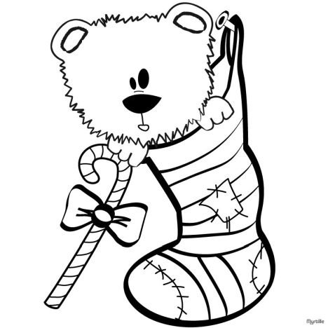 Christmas Stocking Coloring Pages For Kids 14