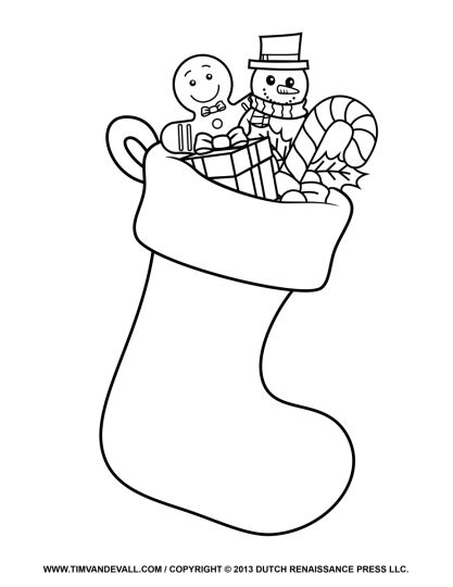 Christmas Stocking Coloring Pages For Kids 16