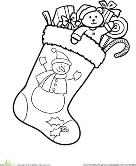 Christmas Stocking Coloring Pages For Kids 17