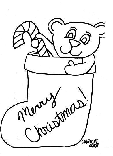 Christmas Stocking Coloring Pages For Kids 21
