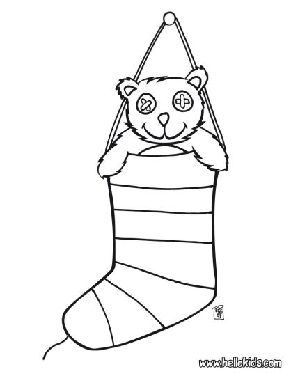 Christmas Stocking Coloring Pages For Kids 23
