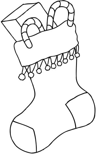 Christmas Stocking Coloring Pages For Kids 27