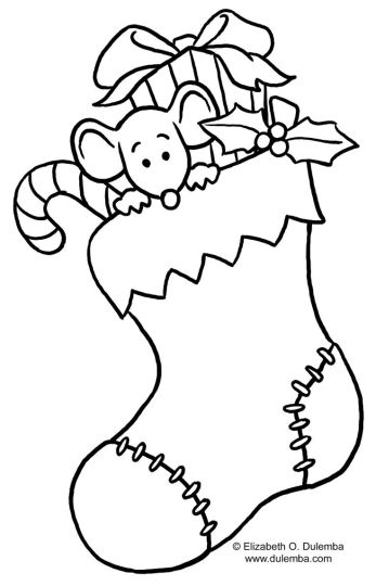 Christmas Stocking Coloring Pages For Kids 29