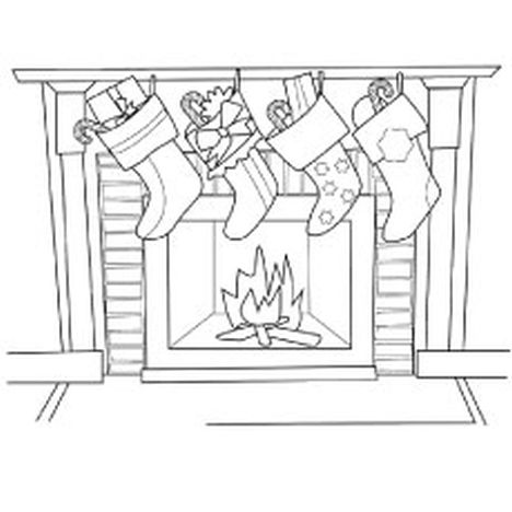 Christmas Stocking Coloring Pages For Kids 30