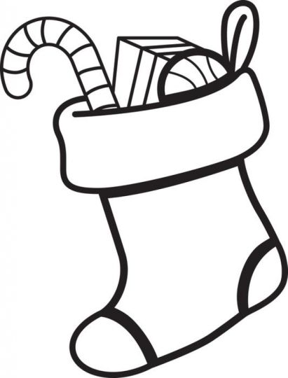 Christmas Stocking Coloring Pages For