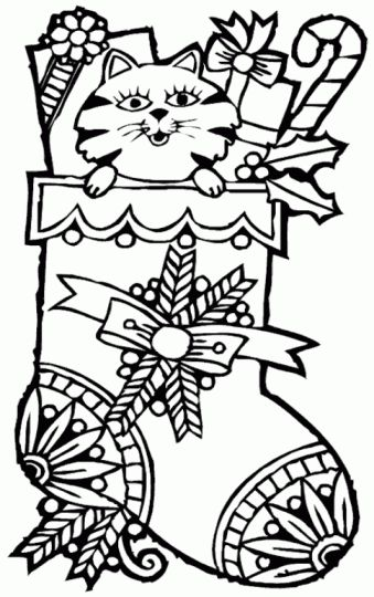 Christmas Stocking Coloring Pages For Kids 32