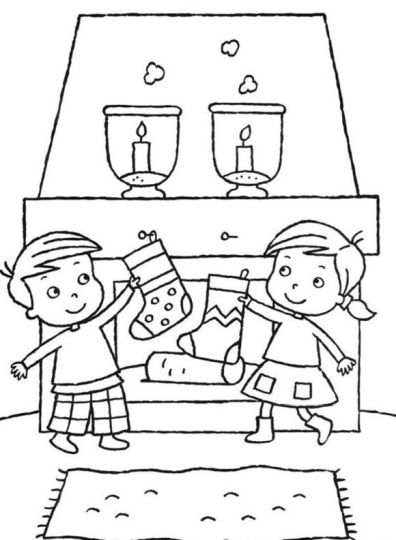 Christmas Stocking Coloring Pages For Kids 33