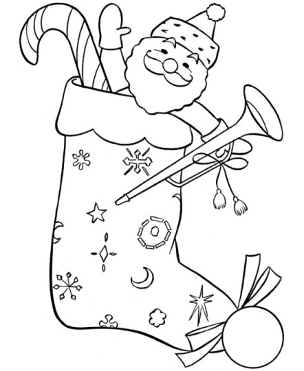 Christmas Stocking Coloring Pages For Kids 34