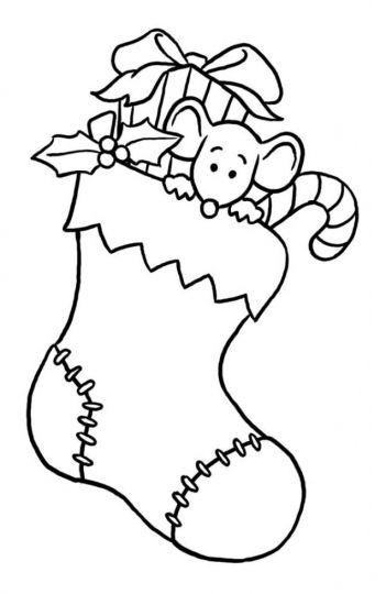 Christmas Stocking Coloring Pages For Kids 35