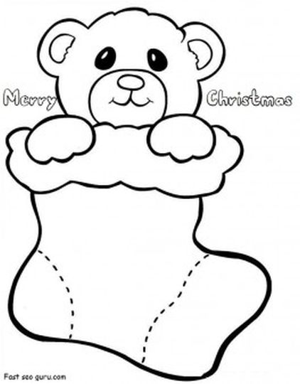 Christmas Stocking Coloring Pages For Kids 39
