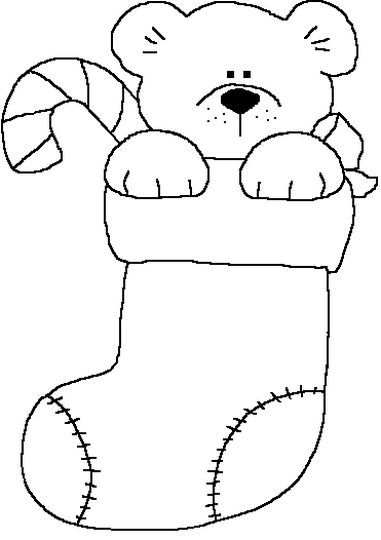 Christmas Stocking Coloring Pages For Kids 42