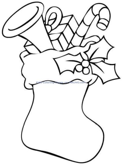 Christmas Stocking Coloring Pages For Kids Part 5