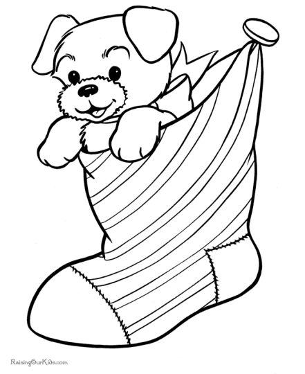 Christmas Stocking Coloring Pages For Kids 44