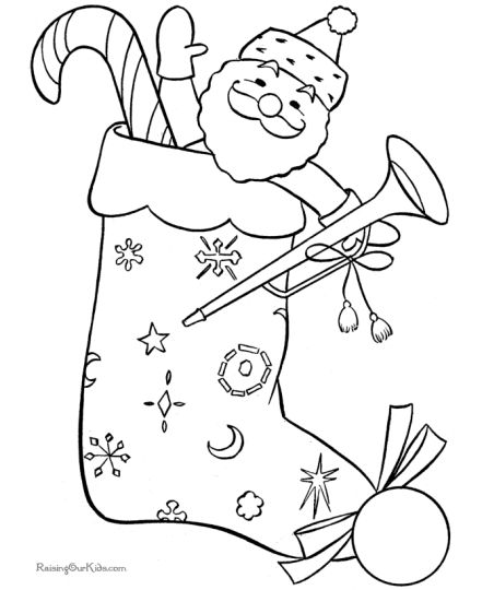 Christmas Stocking Coloring Pages For Kids 45