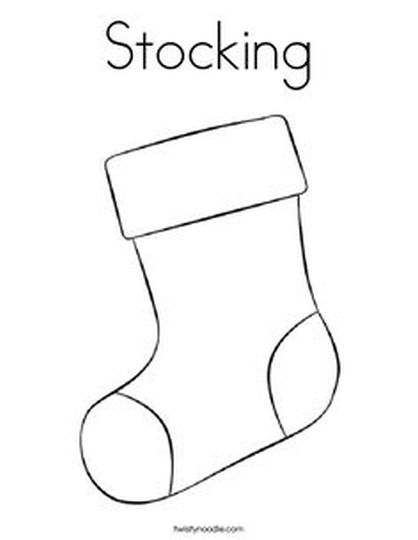 Christmas Stocking Coloring Pages For Kids 46