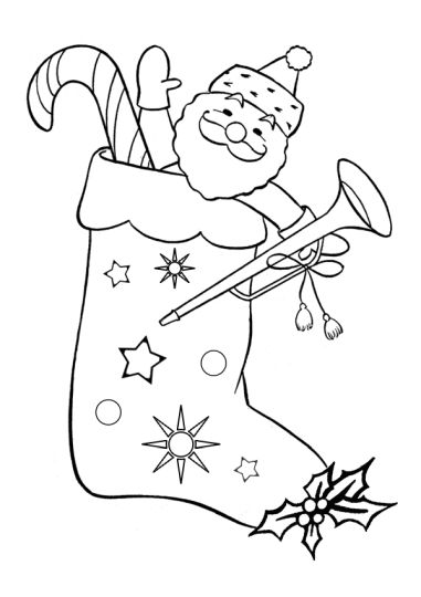 Christmas Stocking Coloring Pages For Kids 47