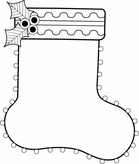 Christmas Stocking Coloring Pages For Kids 49