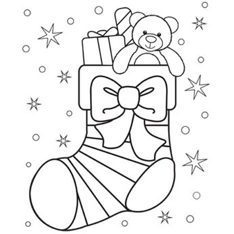 Christmas Stocking Coloring Pages For Kids 7