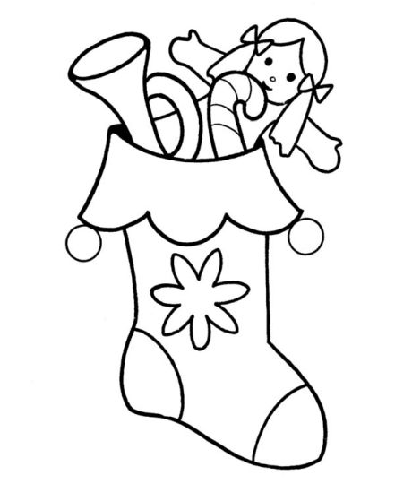 Christmas Stocking Coloring Pages For Kids 8