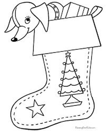 Christmas Stocking Coloring Pages For Kids 9