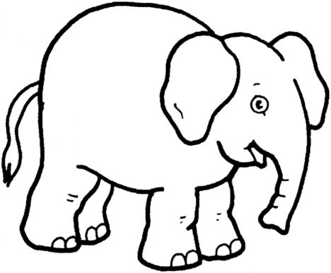 Cute Baby Elephant Coloring Pages 1