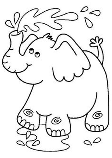 cute baby elephant coloring pages part 2 - Baby Elephant Coloring Pages