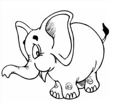 Cute Baby Elephant Coloring Pages 13