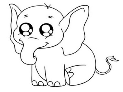 Cute Baby Elephant Coloring Pages 16