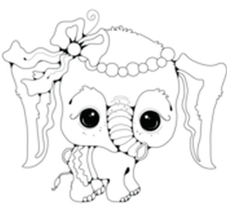 cute baby elephant coloring pages part 3