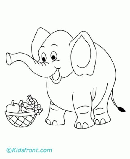 cute baby elephant coloring pages 22 - Baby Elephant Coloring Pages