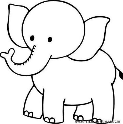 Cute Baby Elephant Coloring Pages 28