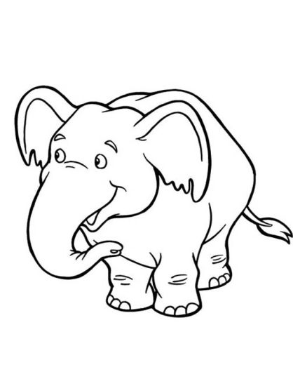 Cute Baby Elephant Coloring Pages 29
