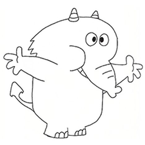 Cute Baby Elephant Coloring Pages 3