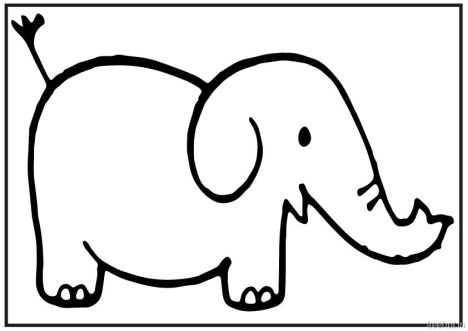 Cute Baby Elephant Coloring Pages 30