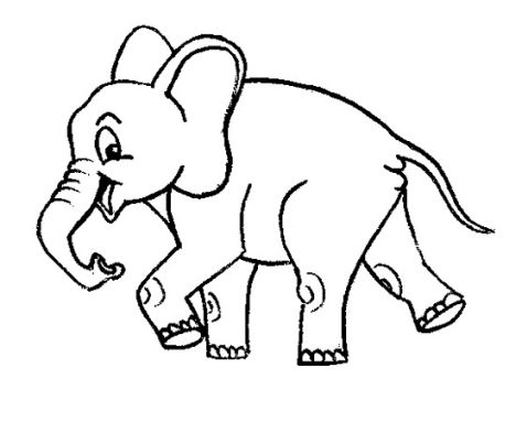 Cute Baby Elephant Coloring Pages 33