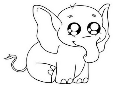 Cute Baby Elephant Coloring Pages 34