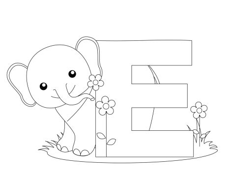 Cute Baby Elephant Coloring Pages 36
