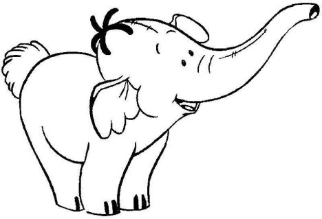 Cute Baby Elephant Coloring Pages 38