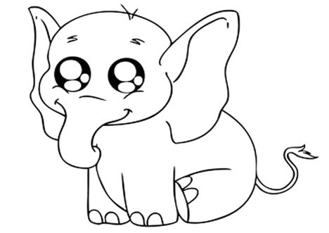 Cute Baby Elephant Coloring Pages 39